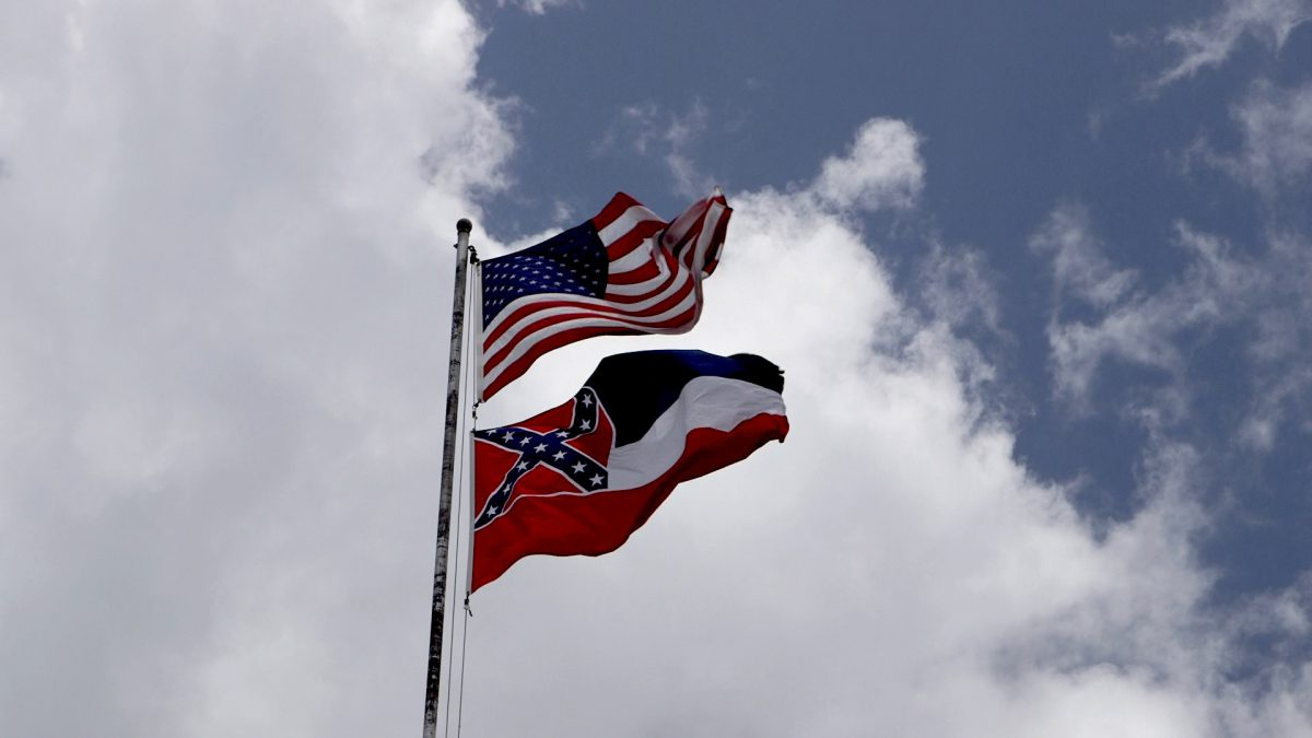 The American Flag and the Confederate Flag